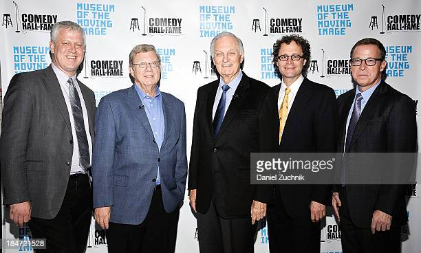 David Schwartz Jeff Greenfield Alan Alda Jeff Pancer and Gary Podell attend Iconic Characters Of Comedy Series 'MASH' at Museum of Moving Image on...