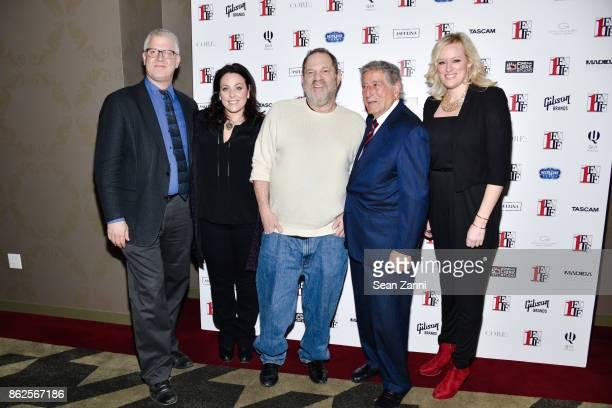 David Schwartz Johanna Bennett Harvey Weinstein Tony Bennett and Mandy Ward attend First Time Fest Closing Night Awards and Tribute to Harvey...