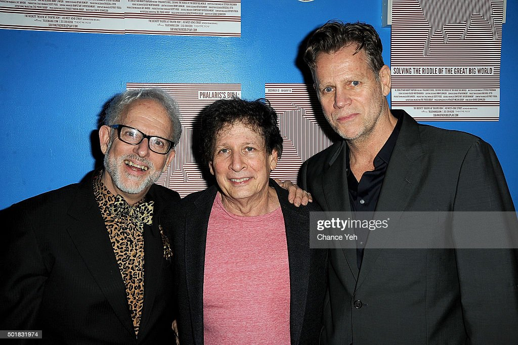 David Schweizer, Steven Friedman and Al Corley attend 'Phalaris's Bull: Solving The Riddle Of The Great Big World' opening night at Beckett Theatre on December 17, 2015 in New York City.
