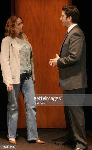 David Schwimmer and Catherine Tate during 'Some Girl' Play Photocall May 19 2005 at Gielgud Theatre in London in London United Kingdom