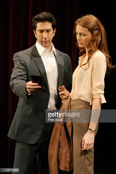 David Schwimmer and Saffron Burrows during 'Some Girl' Play Photocall May 19 2005 at Gielgud Theatre in London in London United Kingdom
