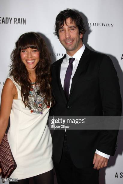 David Schwimmer and Zoe Buckman attend the opening night of 'A Steady Rain' on Broadway at the Gerald Schoenfeld Theatre on September 29 2009 in New...