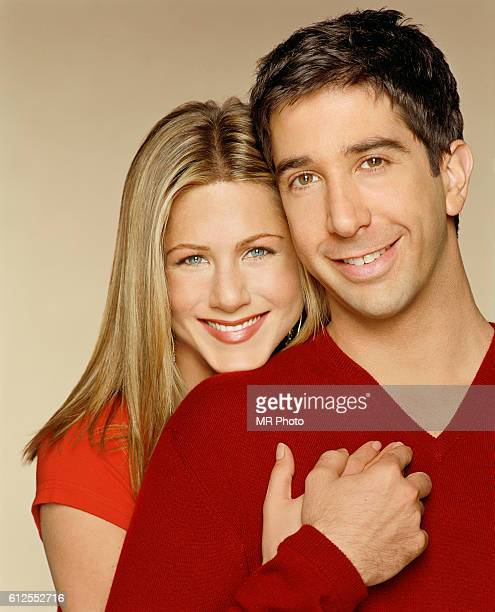 David Schwimmer Holding Jennifer Aniston's Hand