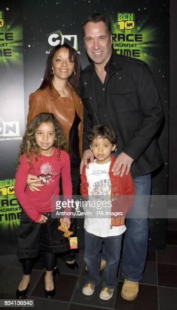 David Seaman and family arrive for the premiere of 'Ben 10 Race Against Time' at the Vue in Leicester Square London