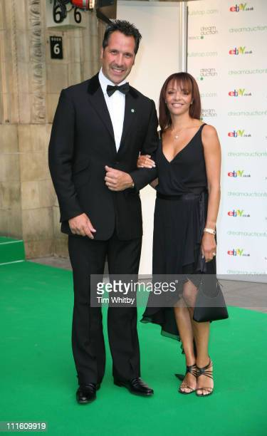David Seaman and guest during Dream Auction FULL STOP VIP Party Outside Arrivals at Royal Albert Hall in London Great Britain