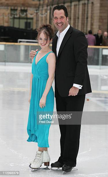 David Seaman and Pam O'Connor during 'Dancing on Ice' TV Press Launch at Natural History Museum in London Great Britain