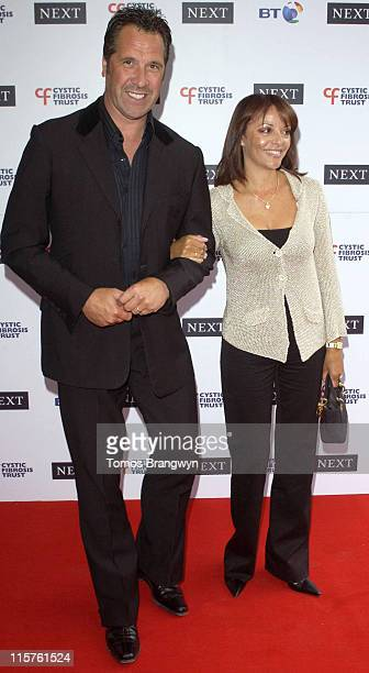 David Seaman and wife during Cystic Fibrosis Trust Breathing Life Awards Arrivals at Royal Lancaster Hotel in London Great Britain