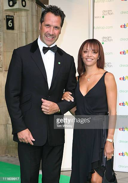 David Seaman and Wife during Dream Auction FULL STOP VIP Party Outside Arrivals at Royal Albert Hall in London Great Britain