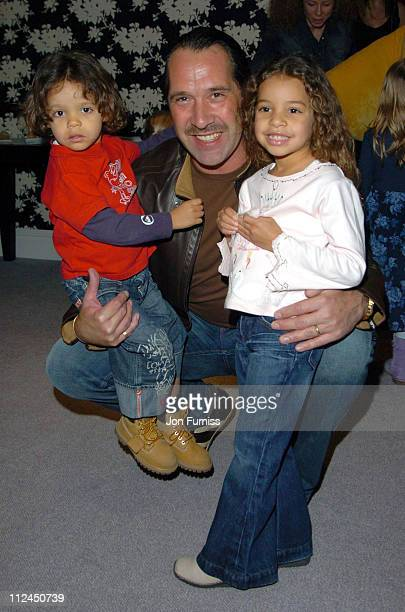David Seaman with daughter's Georgina and Robbie during 'Laura's Star' London Premiere at Soho Hotel in London Great Britain