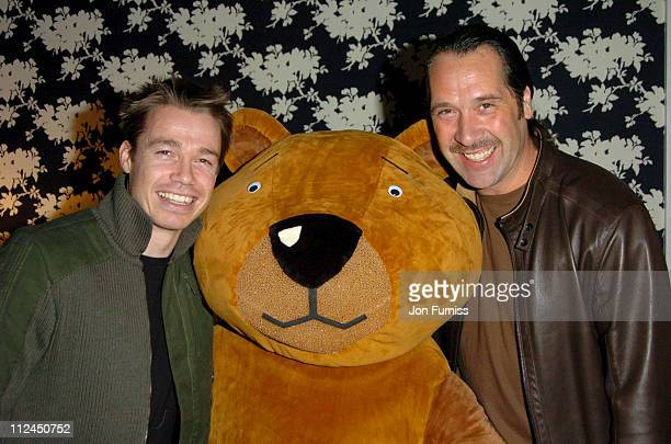 David Seaman with Graeme Le Saux during 'Laura's Star' London Premiere at Soho Hotel in London Great Britain