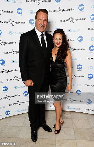 David Seaman with wife Frankie Poultney attend The KP24 Foundation Charity Gala Dinner at The Waldorf Hilton Hotel on June 9 2016 in London England