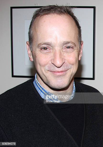 David Sedaris poses at Jackie Hoffman in Scraping The Bottom Holiday Edition at Joe's Pub on December 8 2008 in New York City