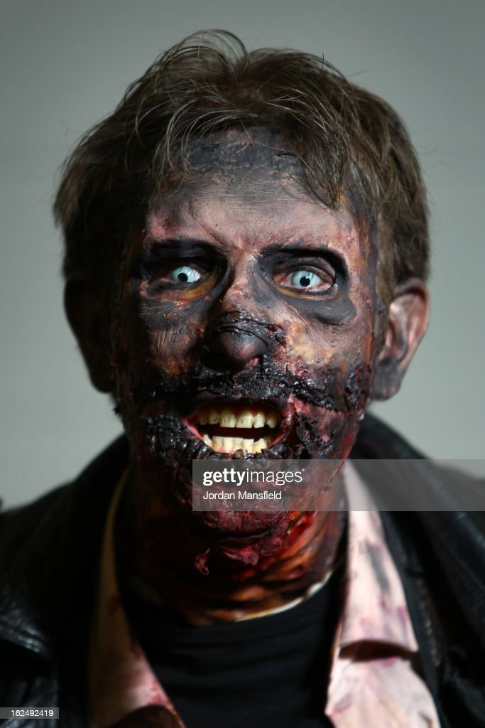 David Sellicks from Southend-on-Sea dressed as his alter-ego 'Dead Rotten' poses for a photo at the London Super Comic Convention at the ExCeL Centre on February 23, 2013 in London, England. Enthusiasts at the Comic Convention are encouraged to wear a costume of their favourite comic character and flock to the ExCeL to gather all the latest news in the world of comics, manga, anime, film, cosplay, games and cult fiction.