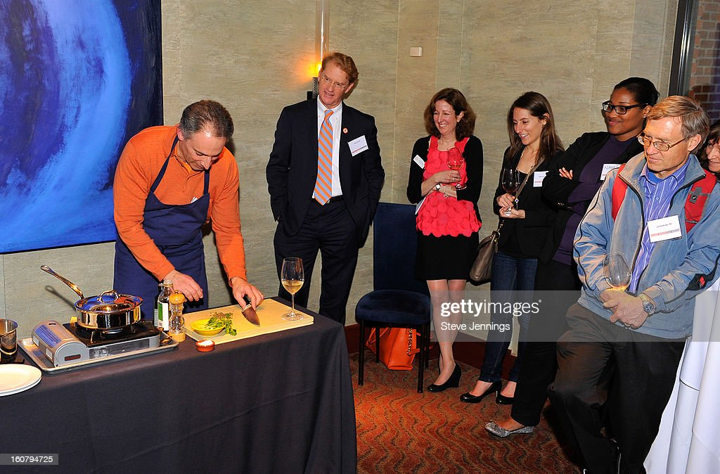 David Shalleck, Shay Zak and Karen Spear (L-R) attend the Syracuse University's San Francisco Donor Reception at Waterbar Restaurant on February 5, 2013 in San Francisco, California.