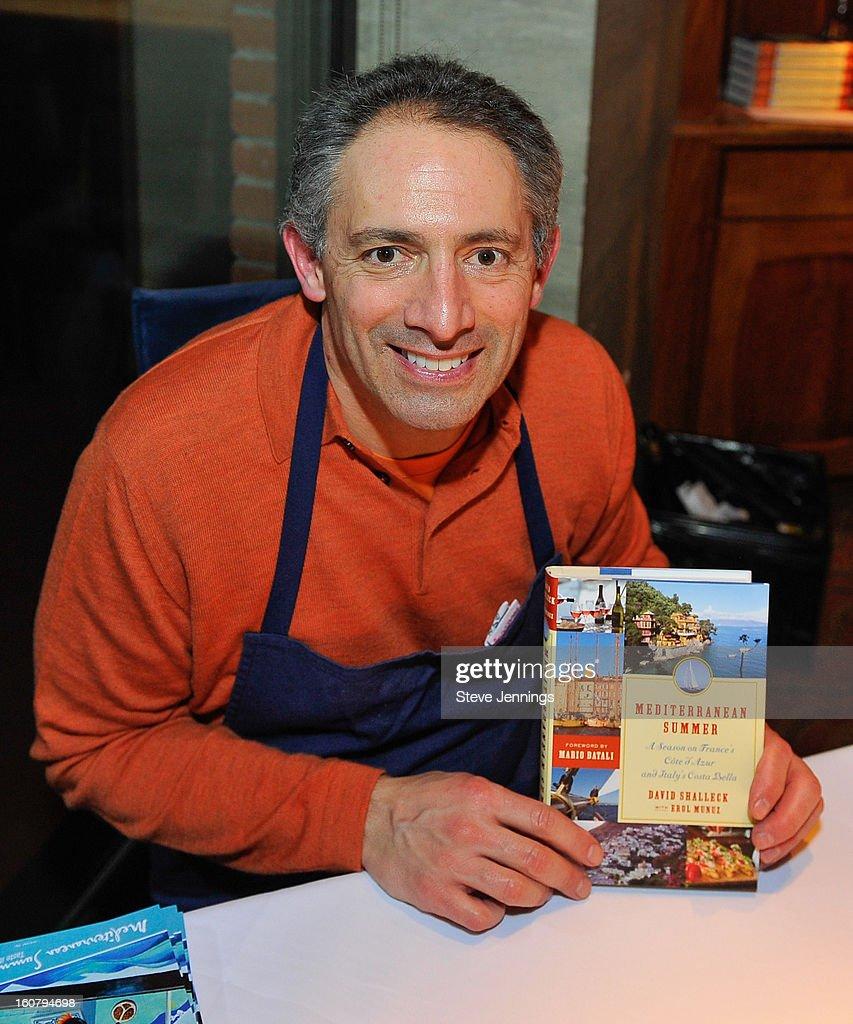 David Shalleck signs copies of his book at the Syracuse University's San Francisco Donor Reception at Waterbar Restaurant on February 5, 2013 in San Francisco, California.