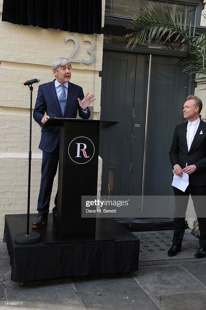 David Shaw (L) and Gary Kemp attend the unveiling of a plaque dedicated to David Bowie's famous character Ziggy Stardust on March 27, 2012 in London, England. The plaque has been installed on Heddon Street, London, which was the location of the album cover photograph for 'The Rise and Fall of Ziggy Stardust and the Spiders from Mars'.