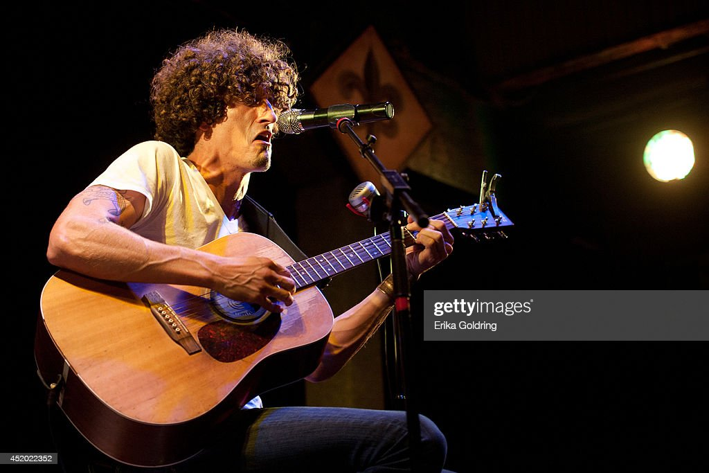 David Shaw of The Revivalists performs a solo acoustic show at Tipitina's on July 10 2014 in New Orleans Louisiana