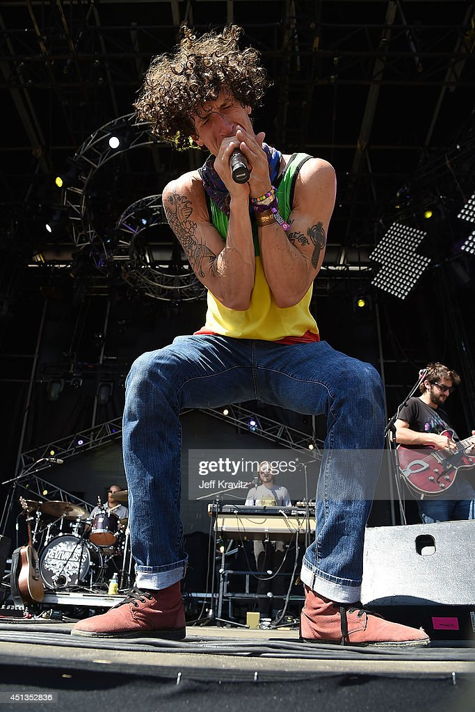 David Shaw of The Revivalists performs on Day 2 of the 2014 Electric Forest Festival on June 27 2014 in Rothbury Michigan