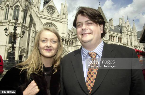 David Shayler and his girlfriend Annie Machon outside the High Court London where prosecuting lawyers argued that new human rights legislation has...