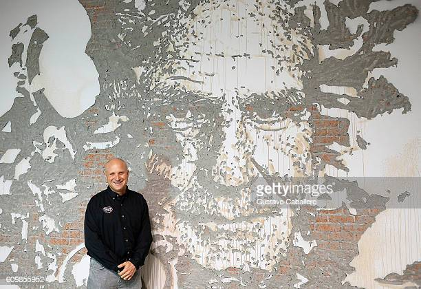 David Shula unveils a mural depicting his Hall of Fame father Don Shula at the Hard Rock Stadium Showcase at Hard Rock Stadium on September 22 2016...