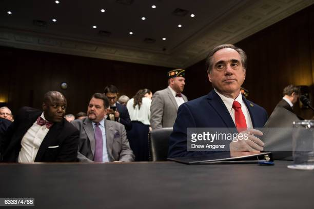 David Shulkin President Donald Trump's nominee for Secretary of Veterans Affairs arrives for his confirmation hearing with the Senate Committee on...