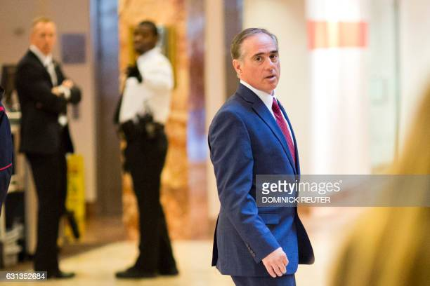 David Shulkin Under Secretary of Health for the US Department of Veterans Affairs leaves Trump Tower in New York City New York on January 9 2017 /...