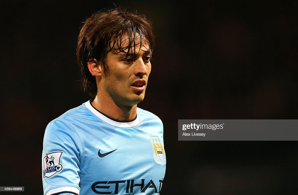 <a gi-track='captionPersonalityLinkClicked' href=/galleries/search?phrase=David+Silva&family=editorial&specificpeople=675795 ng-click='$event.stopPropagation()'>David Silva</a> of Manchester City during the Barclays Premier League match between Manchester City and Liverpool at Etihad Stadium on December 26, 2013 in Manchester, England.