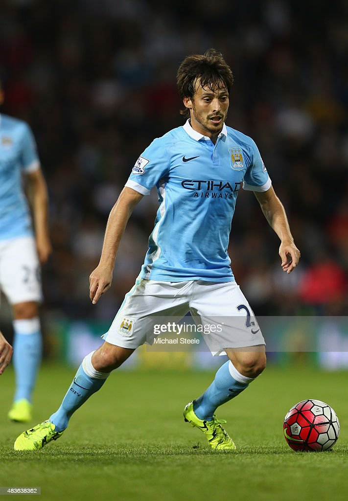 <a gi-track='captionPersonalityLinkClicked' href=/galleries/search?phrase=David+Silva&family=editorial&specificpeople=675795 ng-click='$event.stopPropagation()'>David Silva</a> of Manchester City during the Barclays Premier League match between West Bromwich Albion and Manchester City at The Hawthorns on August 10, 2015 in West Bromwich, England.