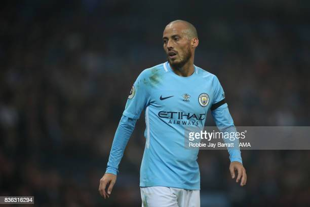 David Silva of Manchester City wearing a Worker Bee on his shirt which has been modified for the game to reflect the attack on Manchester Arena in...