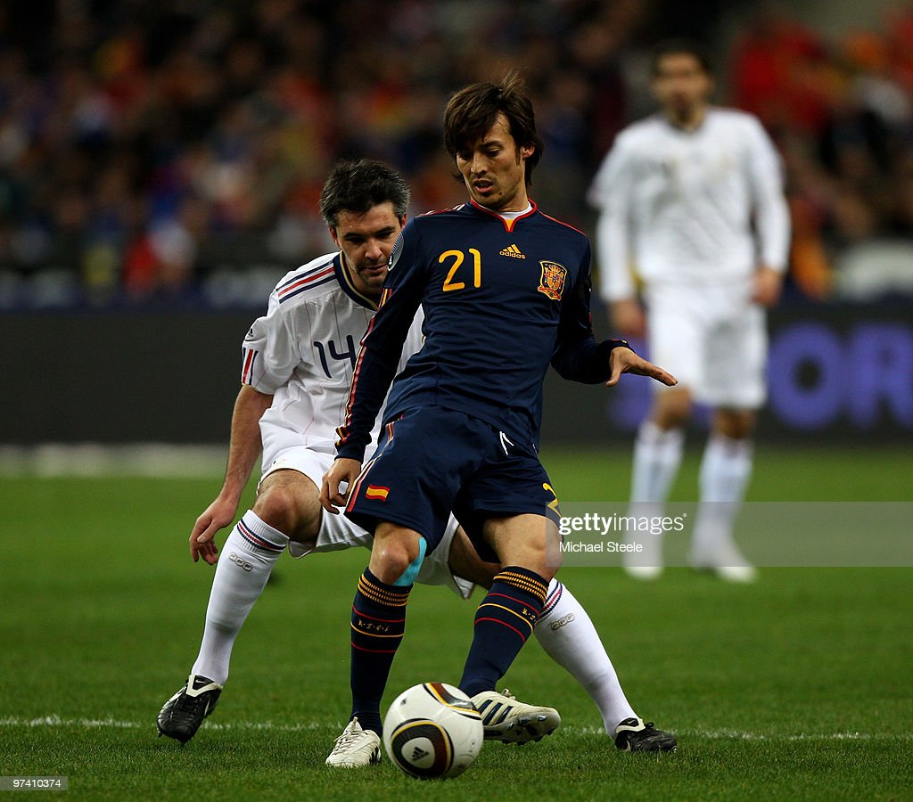 David Silva of Spain during the France v Spain International Friendly match at the Stade de France on March 3, 2010 in Paris, France.