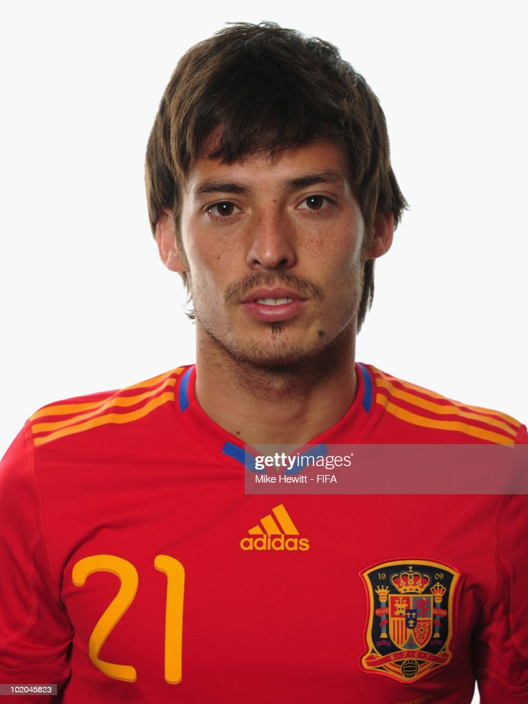 <a gi-track='captionPersonalityLinkClicked' href=/galleries/search?phrase=David+Silva&family=editorial&specificpeople=675795 ng-click='$event.stopPropagation()'>David Silva</a> of Spain poses during the official Fifa World Cup 2010 portrait session on June 13, 2010 in Potchefstroom, South Africa.