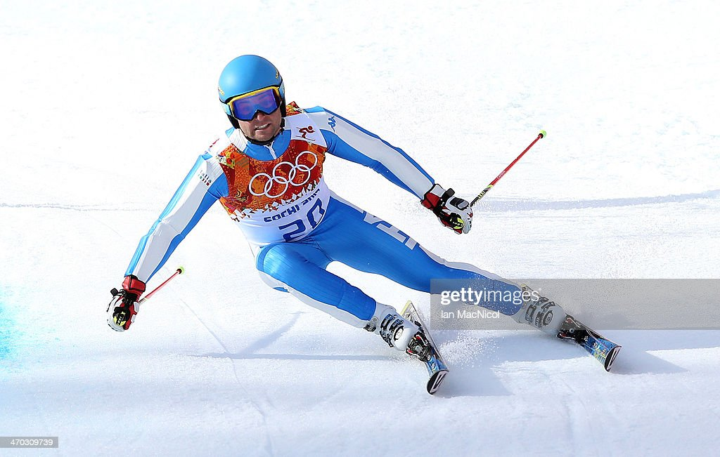 David Simoncelli of Italy competes during round two of the Men's Giant Slalom on Day 12 of the Sochi 2014 Winter Olympics at Rosa Khutor Alpine Centre on February 19, 2014 in Sochi, Russia.