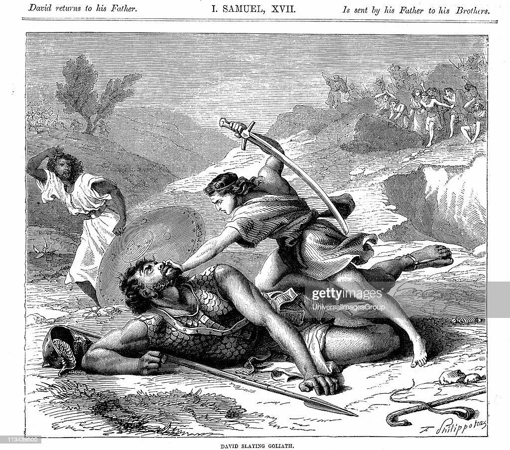 david slaying the philistine giant goliath bible i samuel 17