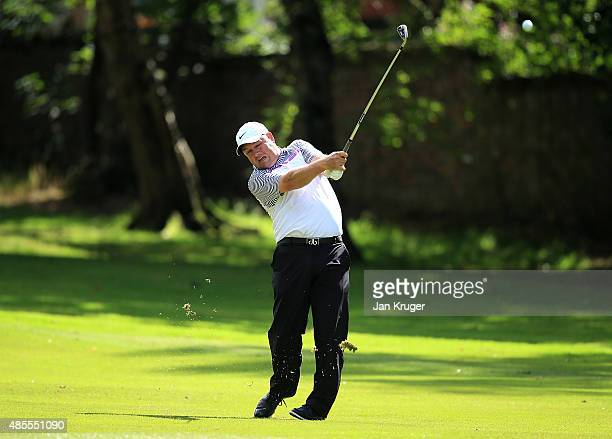 David Smith of Swinton Park GC during the Golfplan Insurance PGA ProCaptain Challenge North West Qualifier at Dunham Forest Golf Club on August 28...