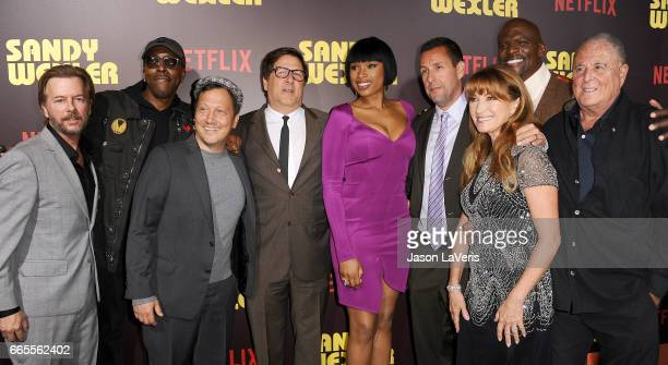 David Spade Arsenio Hall Rob Schneider Steven Brill Jennifer Hudson Adam Sandler Jane Seymour Terry Crews and Sandy Wernick attend the premiere of...