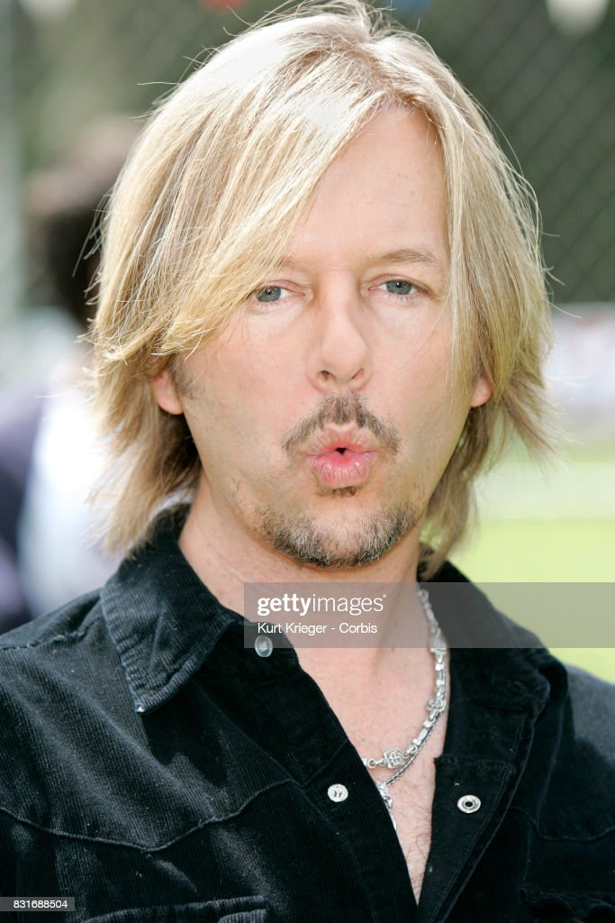 Image has been digitally retouched.) David Spade attends the 'The Benchwarmers' Stars vs. youth players baseball game at UCLA, in Westwood, California on April 2, 2006.