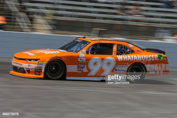 David Starr drives along the front stretch during the My Bariatric Solutions NASCAR Xfinity Series race on April 8 2017 at Texas Motor Speedway in...