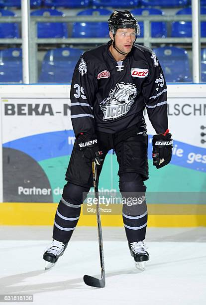 David Steckel of the Thomas Sabo Ice Tigers Nuernberg during the action shot on August 19 2016 in Straubing Germany