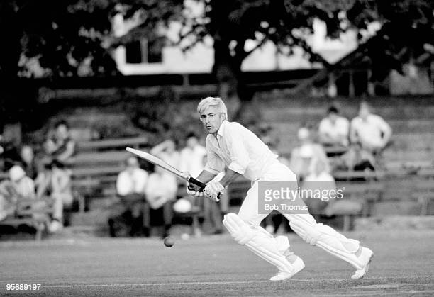 David Steele batting for Northamptonshire against Lancashire in the County Championship match at the County Ground in Northampton 10th August 1977...