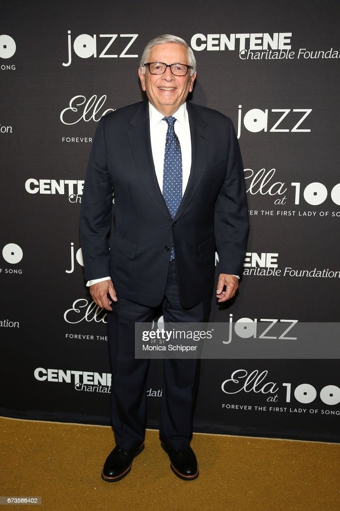 David Stern attends the 2017 Jazz At Lincoln Center Gala: Ella At 100: Forever The First Lady of Song at Frederick P. Rose Hall, Jazz at Lincoln Center on April 26, 2017 in New York City.