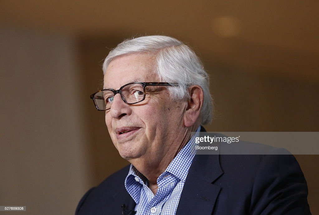 <a gi-track='captionPersonalityLinkClicked' href=/galleries/search?phrase=David+Stern&family=editorial&specificpeople=206848 ng-click='$event.stopPropagation()'>David Stern</a>, commissioner emeritus of the National Basketball Association (NBA), speaks during a Bloomberg Television interview at the annual Milken Institute Global Conference in Beverly Hills, California, U.S., on Tuesday, May 3, 2016. The conference gathers attendees to explore solutions to today's most pressing challenges in financial markets, industry sectors, health, government and education. Photographer: Patrick T. Fallon/Bloomberg via Getty Images