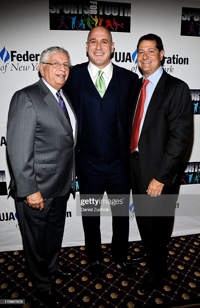<a gi-track='captionPersonalityLinkClicked' href=/galleries/search?phrase=David+Stern&family=editorial&specificpeople=206848 ng-click='$event.stopPropagation()'>David Stern</a>, Michael Levine and David Blitzer attend UJA-Federation Of New York's Sports for Youth Luncheon at The Roosevelt Hotel on June 19, 2013 in New York City.