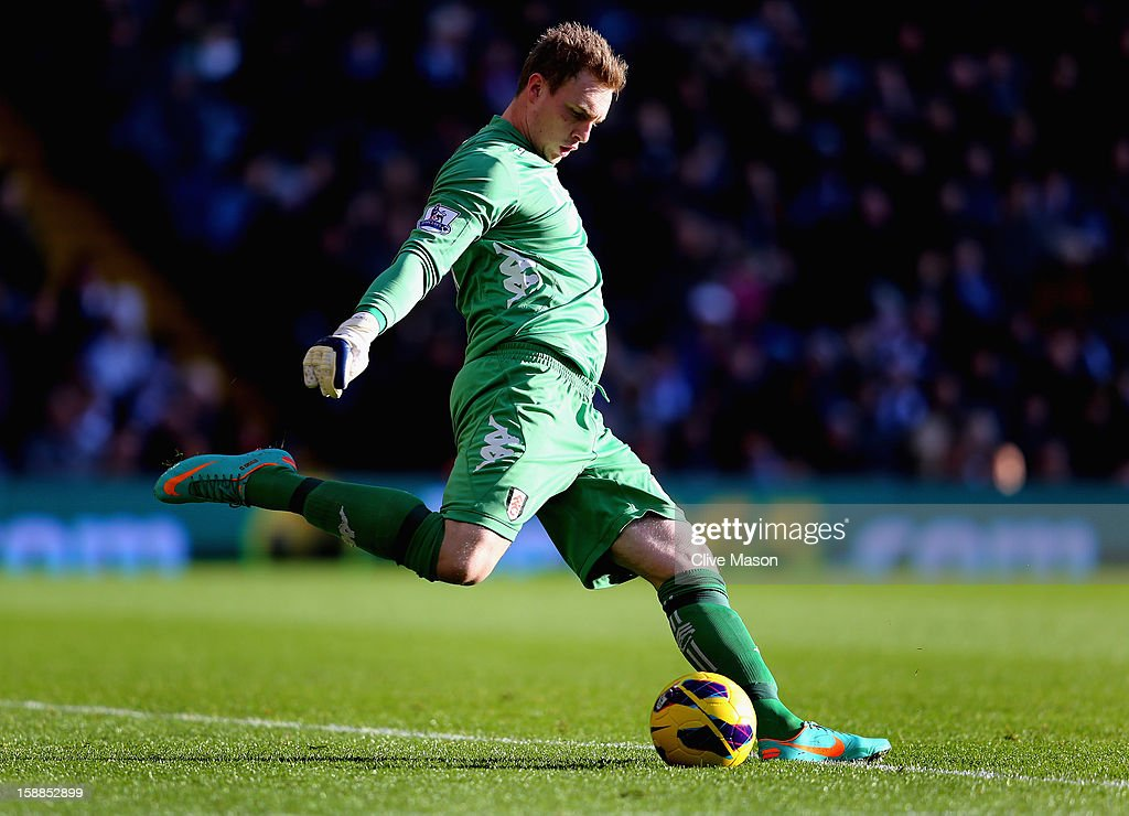David Stockdale of Fulham in action during the Barclays Premier League match between West Bromwich Albion and Fulham at The Hawthorns, on January 1, 2013 in West Bromwich, England.