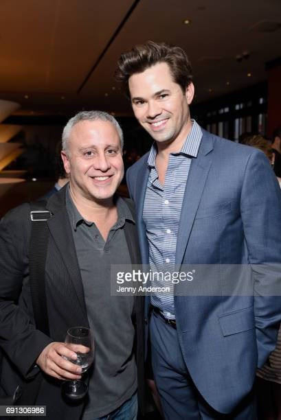 David Stone and Andrew Rannells attend Designed To Celebrate A Toast To The 2017 Tony Awards Creative Arts Nominees at The Lamb's Club at the Chatwal...