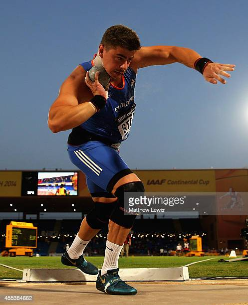 David Storl of Europe wins the MEns Shot Putt Final during day one of the IAAF Continental Cup at the Stade de Marrakech on September 13 2014 in...