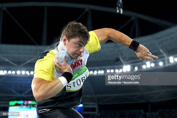 David Storl of Germany competes during the Men's Shot Put Final on Day 13 of the Rio 2016 Olympic Games at the Olympic Stadium on August 18 2016 in...