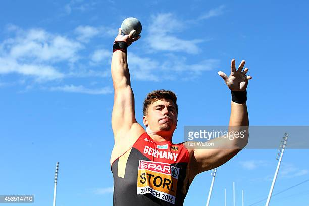 David Storl of Germany competes in the competes in the Men's Shot Put qualification during day one of the 22nd European Athletics Championships at...