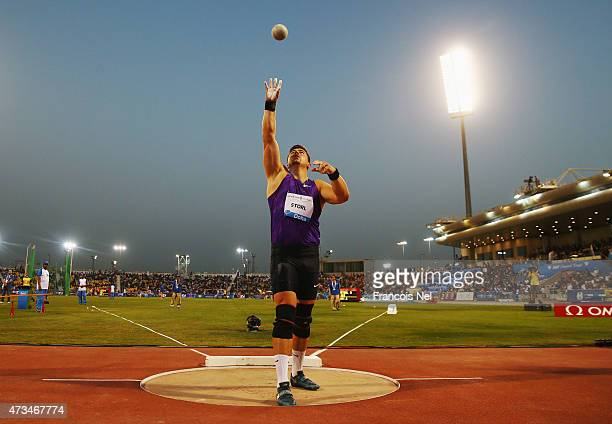 David Storl of Germany competes in the Men's Shot Put during the Doha IAAF Diamond League 2015 meeting at the Qatar Sports Club on May 15 2015 in...