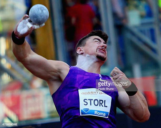 David Storl of Germany competes in the men's shot put during the IAAF Golden Gala at Stadio Olimpico on June 4 2015 in Rome Italy