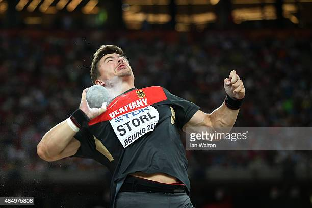 David Storl of Germany competes in the Men's Shot Put final during day two of the 15th IAAF World Athletics Championships Beijing 2015 at Beijing...
